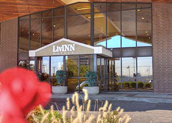 Location of LivINN Hotel Cincinnati / Sharonville Convention Center